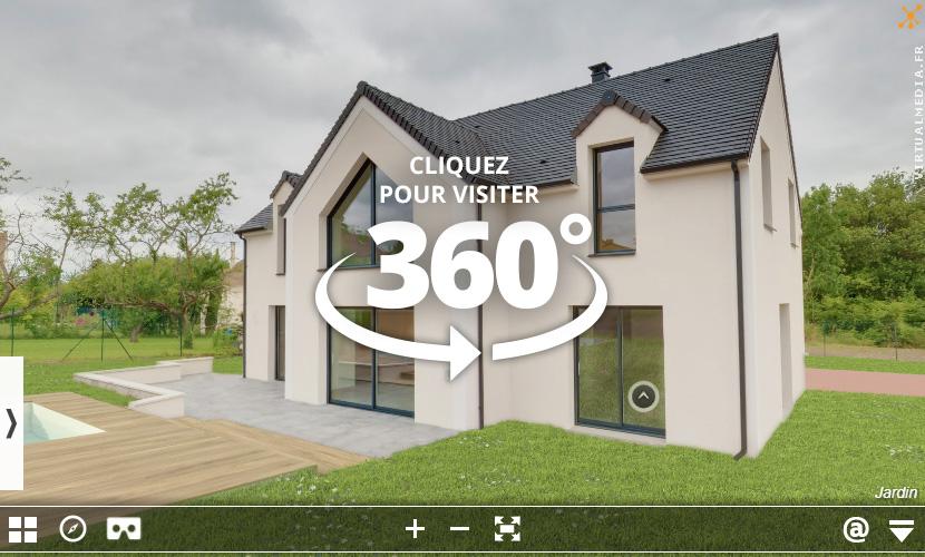 Visite reelle 360 maison avec piscine