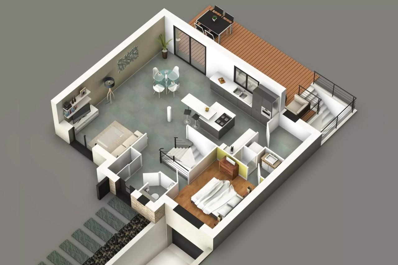 Modele my8 de maison individuelle 6 pi ces - Modele de maison en v ...