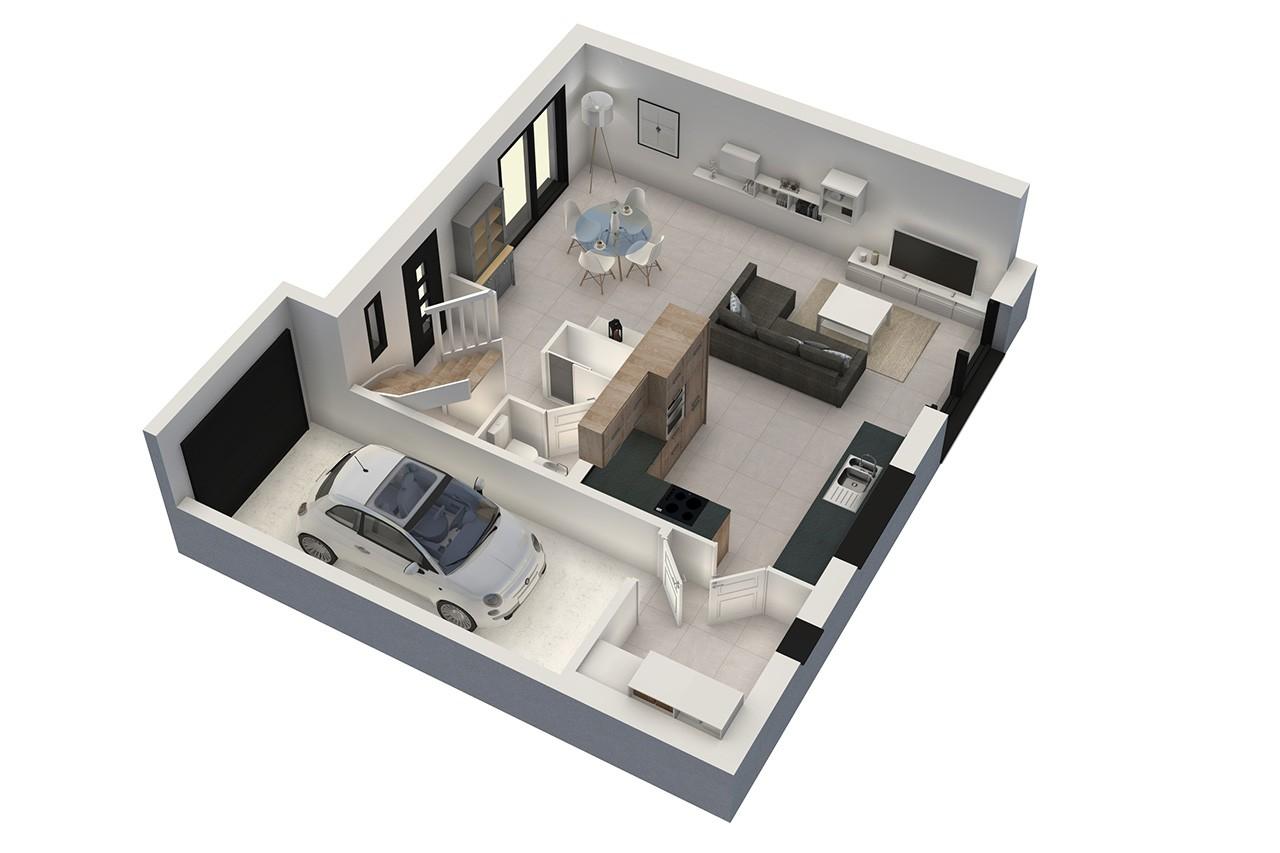 plan de maison 6 pieces