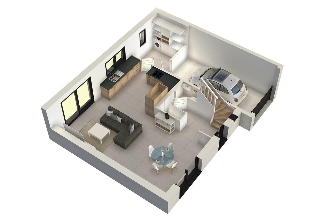 Modele my10 de maison individuelle 6 pi ces for Modele maison 6 chambres
