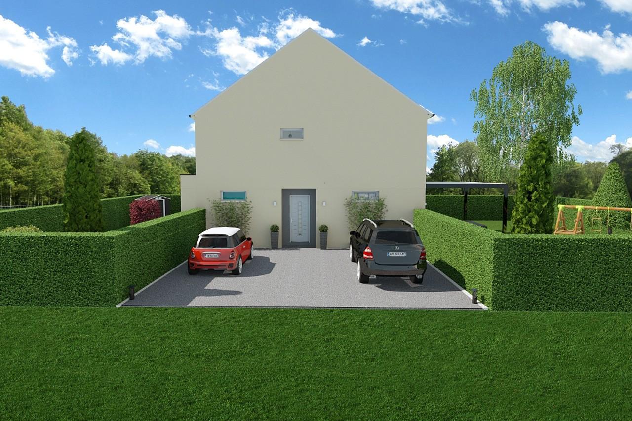 modele my6 de maison individuelle 5 pi ces. Black Bedroom Furniture Sets. Home Design Ideas