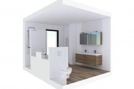 Realisation vues interieures sanitaires 25